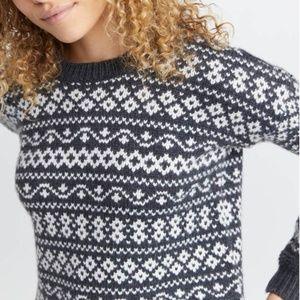 Marine Layer Jill Fair Isle Crewneck sweater